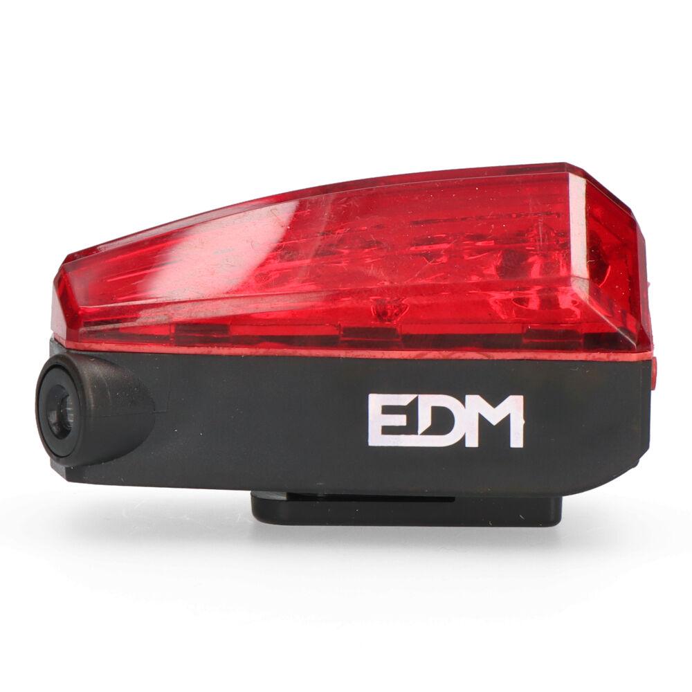 Linterna Bicicleta Trasera Con 5 Leds Y 2 Lasers Edm