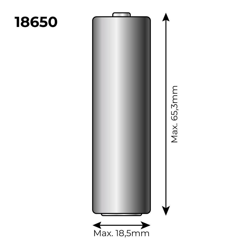 Pila Recargable 3,7 Voltios 2300 Mah (Recambio 36100)  Mod 18650 Litio
