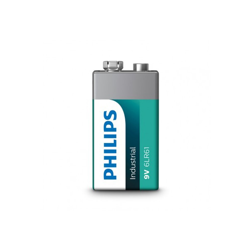 Pila Alkalina 6Lr61 Philips 9V (Retractil 10 Unid.)