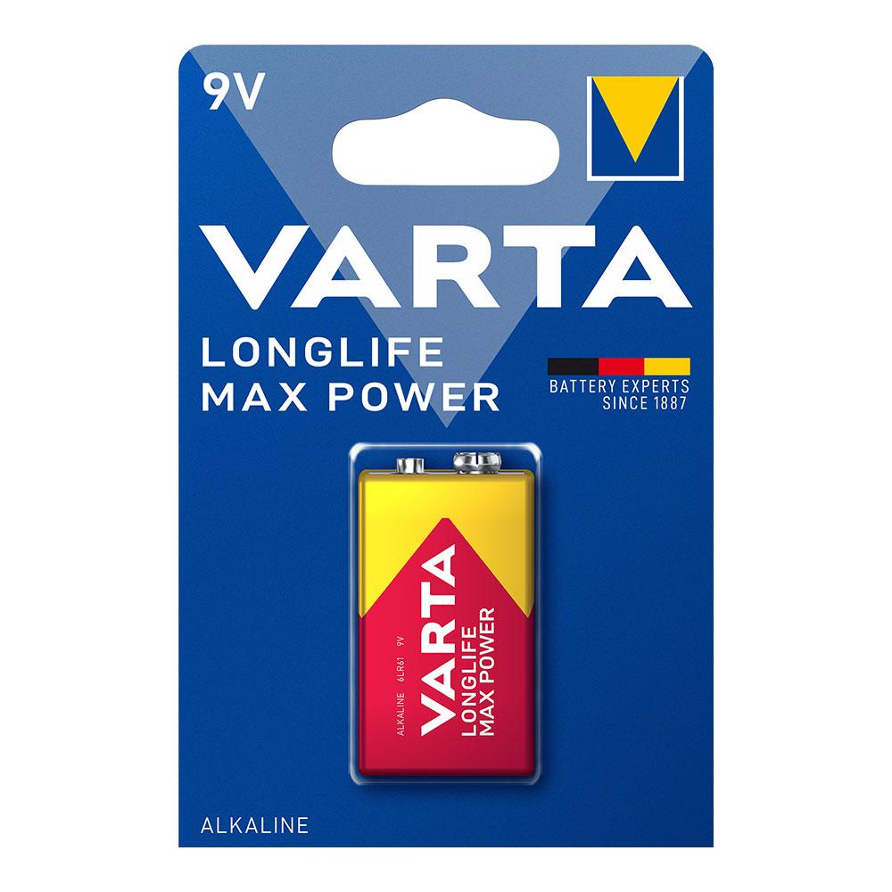 Pila Varta Long Life Max Power 9V Pack 1 Uni