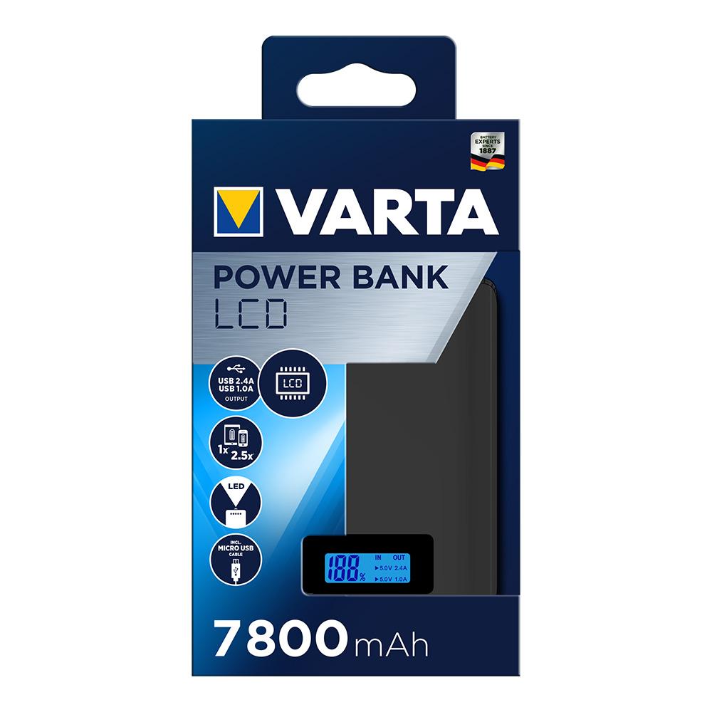 Power Bank Varta Pantalla Lcd 7.800 Mah