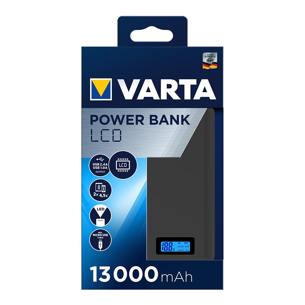 Power Bank Varta Pantalla Lcd 13.000 Mah