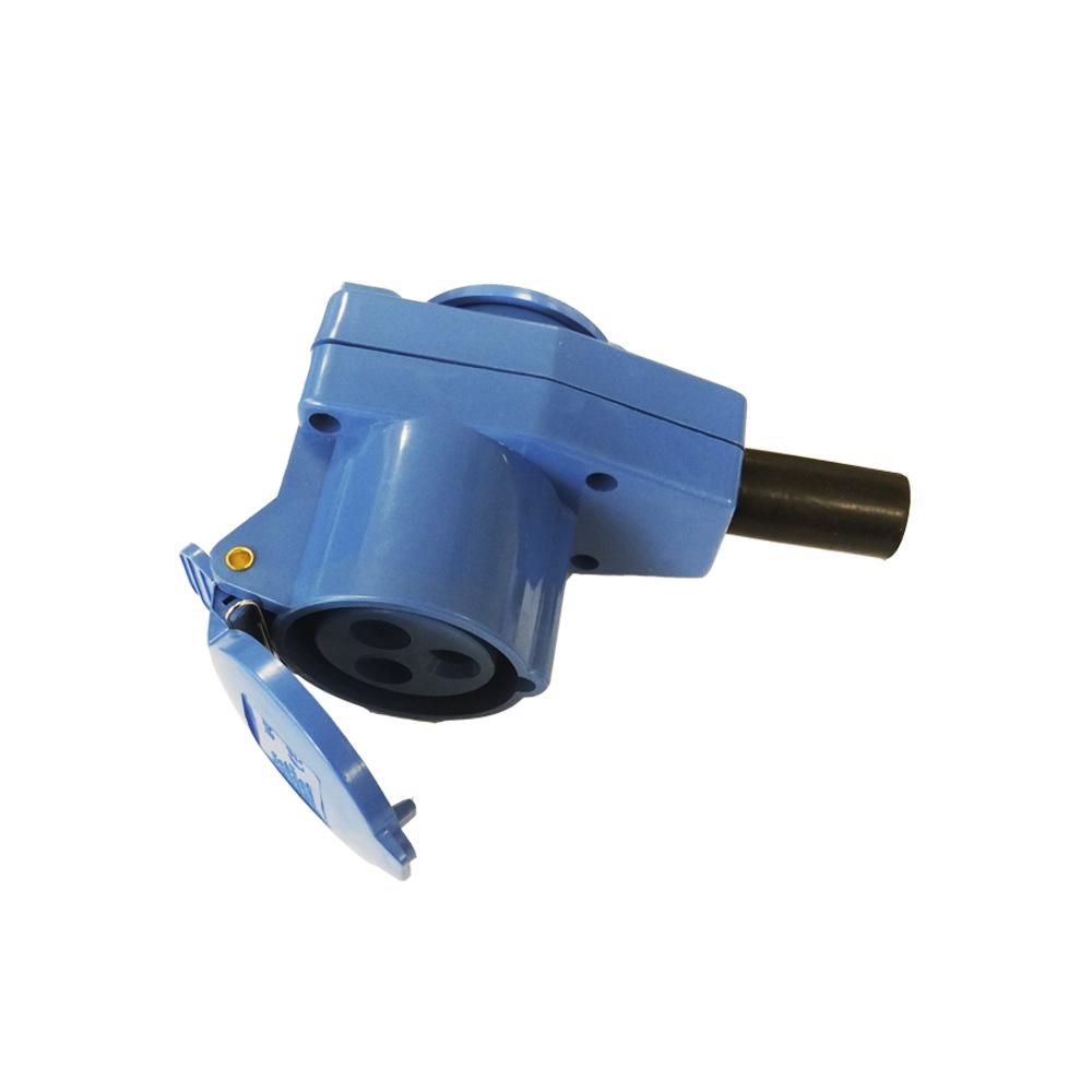 Adaptador Cetac/Schuko Para Cable 2P + T 16A