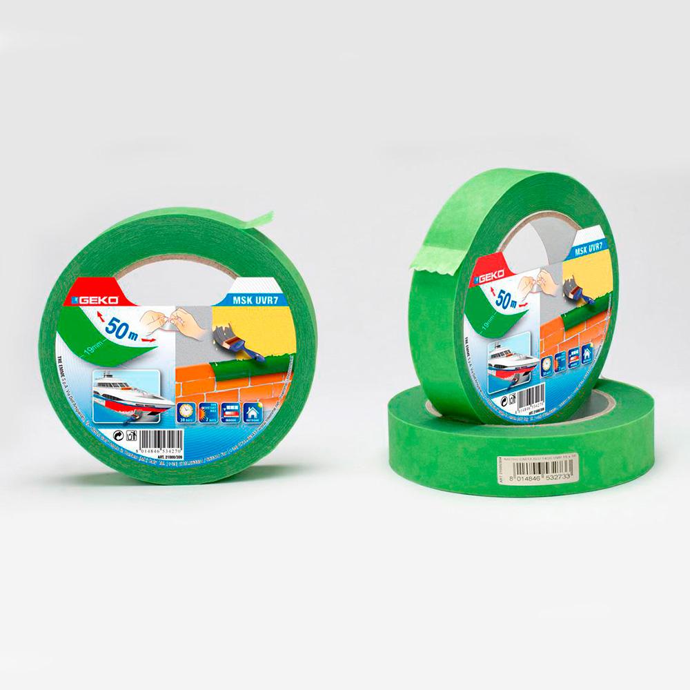 Cinta Masking Verde 25Mmx50M  Resistente Uv Para Uso Exterior