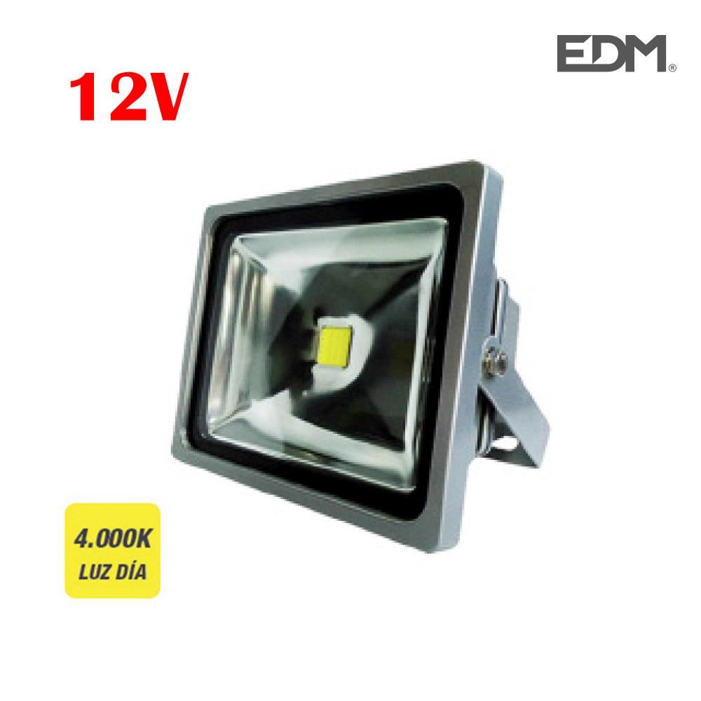 "Proyector  Led """"12V""""  30W 4.000K Luz Dia 1900 Lumens Edm"