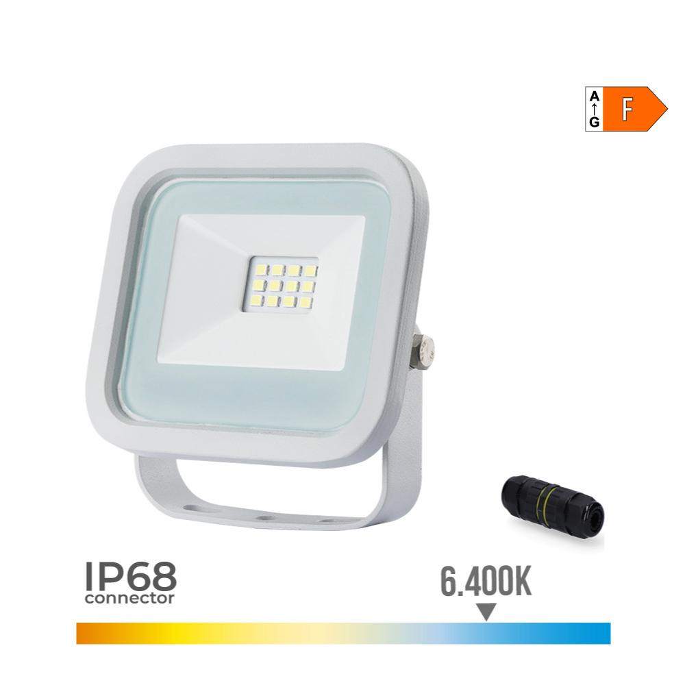 Foco Proyector Led  10W 700 Lumens 6.400K Luz Fria Edm