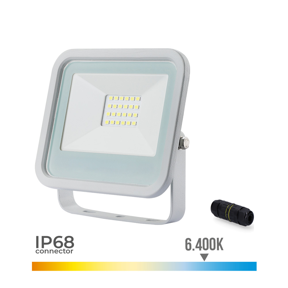 Foco Proyector Led  Extraplano Smd Ip65 220-240V 20W 6.400K Luz Fria 1400 Lumens Edm