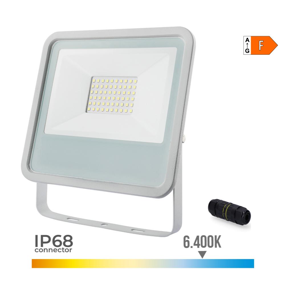 Foco Proyector Led  Extraplano Smd Ip65 220-240V 50W 6.400K Luz Fria 3500 Lumens Edm