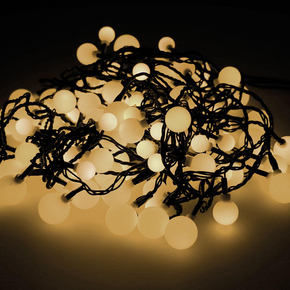 """Guirnalda """"Cherry""""  Led Luces De Tres Medidas 900Cm 120Leds Luz Calida Exterior"""