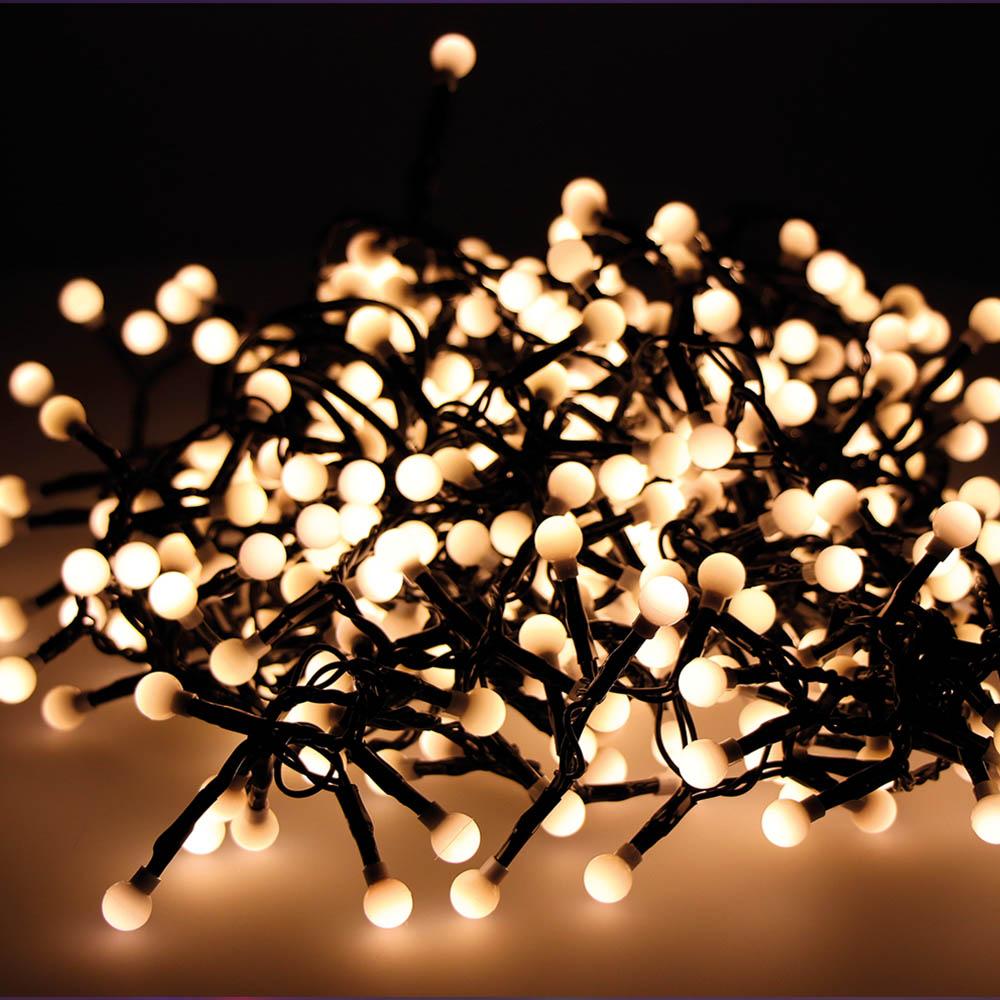 """Guirnalda """"Cherry Compact""""  Parpadeante Exterior 1100Cm 500Led Luz Calida"""