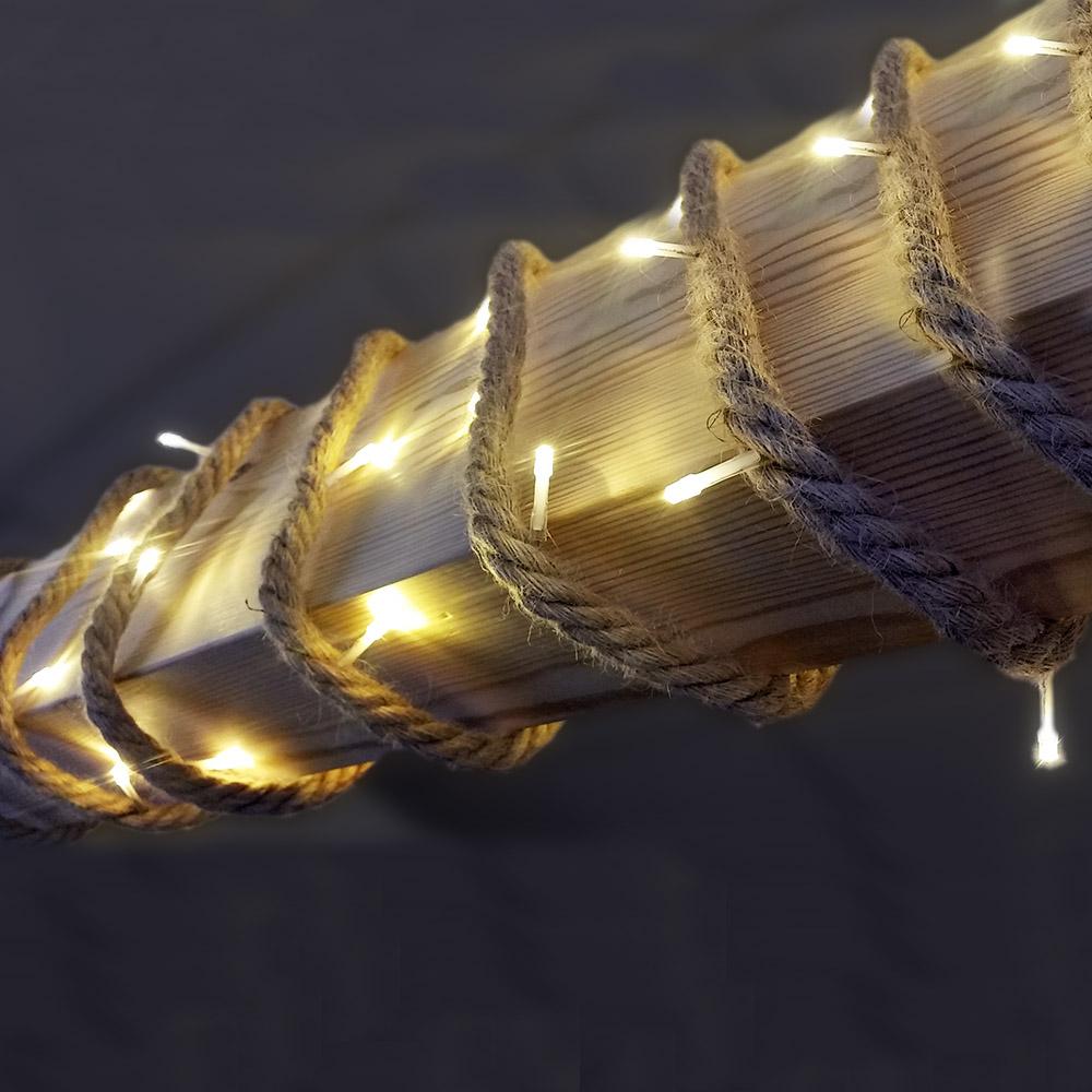 Cuerda De Yute Con Bombillas Led Interior 3.9Mts 40 Leds 220V
