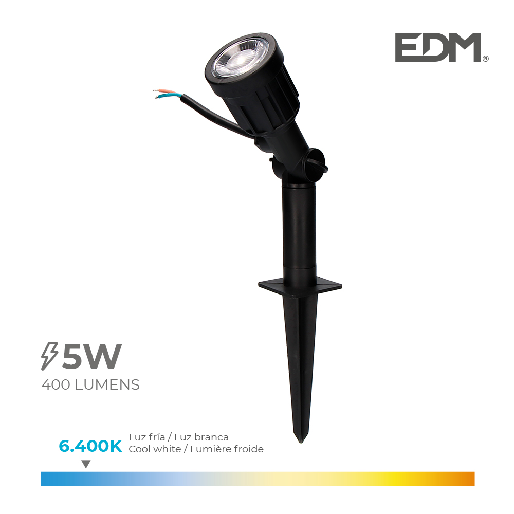 Estaca Jardin Led Ip64 6W 6.400K 38º Edm