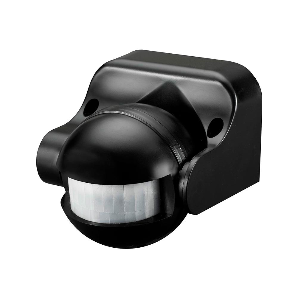 Detector De Movimiento Con Regulador Noche/Dia 180º Ip44 Negro Edm