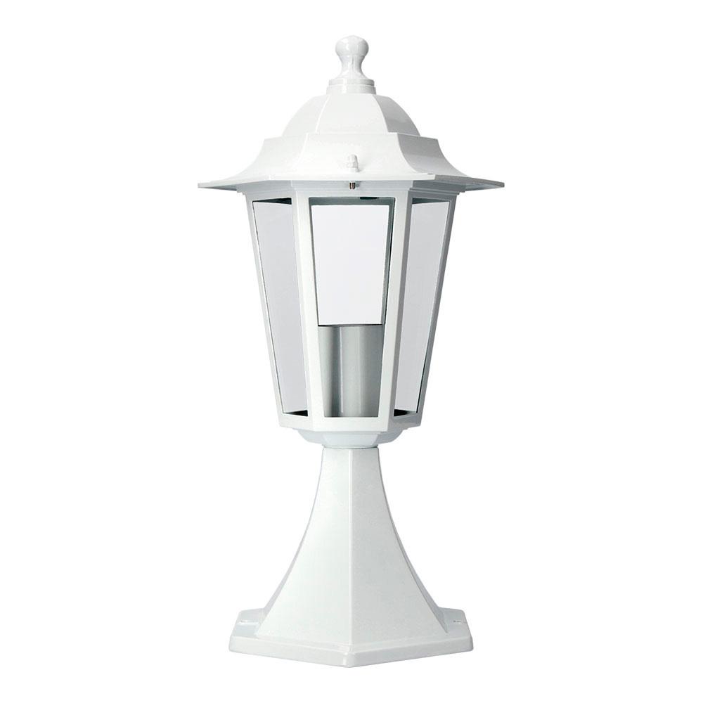 Farol Aluminio Sobremuro Blanco 38Xø19,2 Cm Edm Mod. Zurich