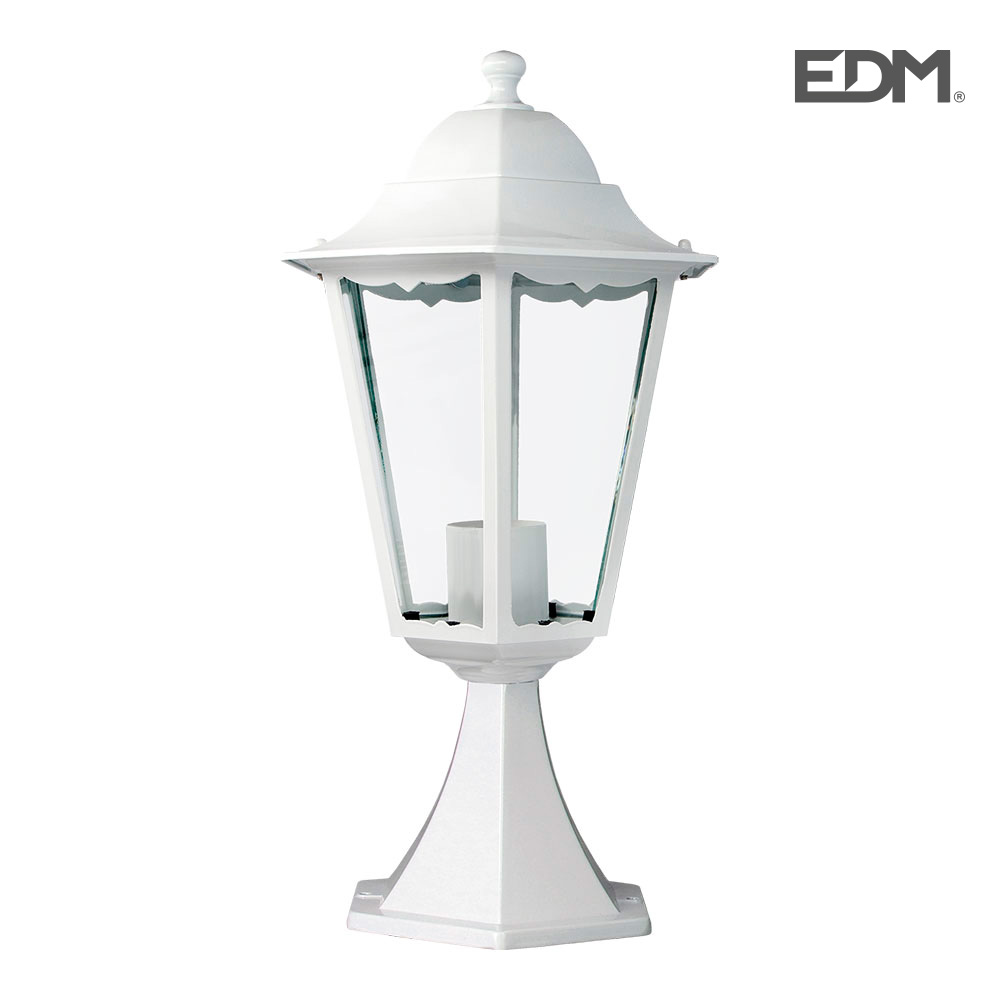 Farol Aluminio Sobremuro Blanco 49,5Xø23Cm Edm Mod. Marsella