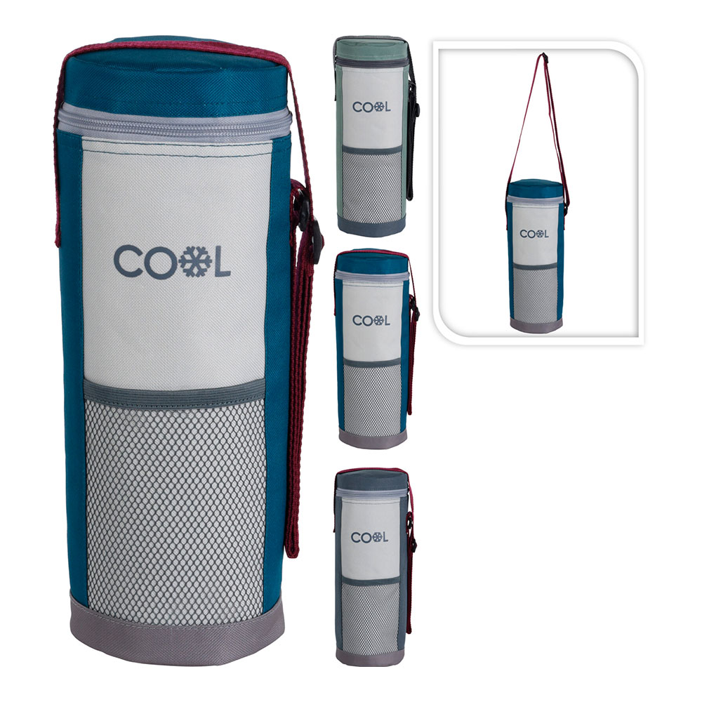 Nevera Para Botellas 1,50L Con Bandolera Ajustable 12X34Cm Colores Surtidos
