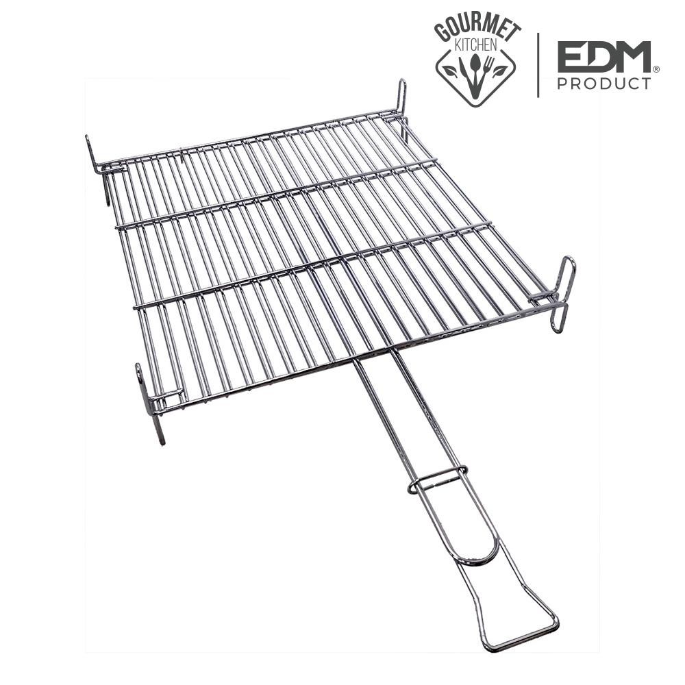 Parrilla 40x40cm bbq cromada edm