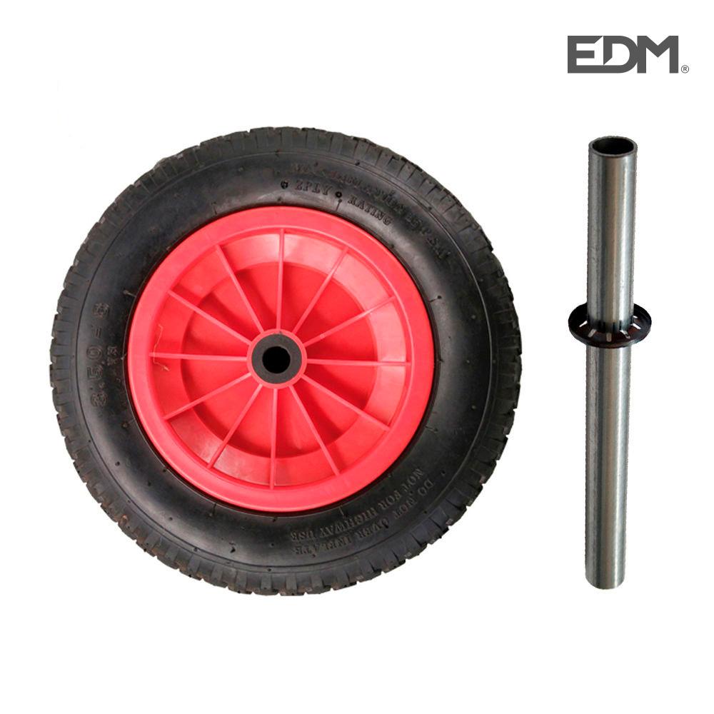 *ult.unidades* rueda de carretilla neumatica llanta pvc edm