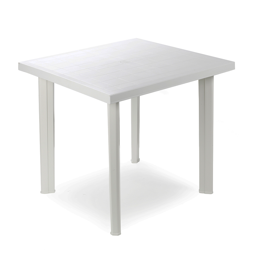 Mesa cuadrada color blanco 80x75x72cm