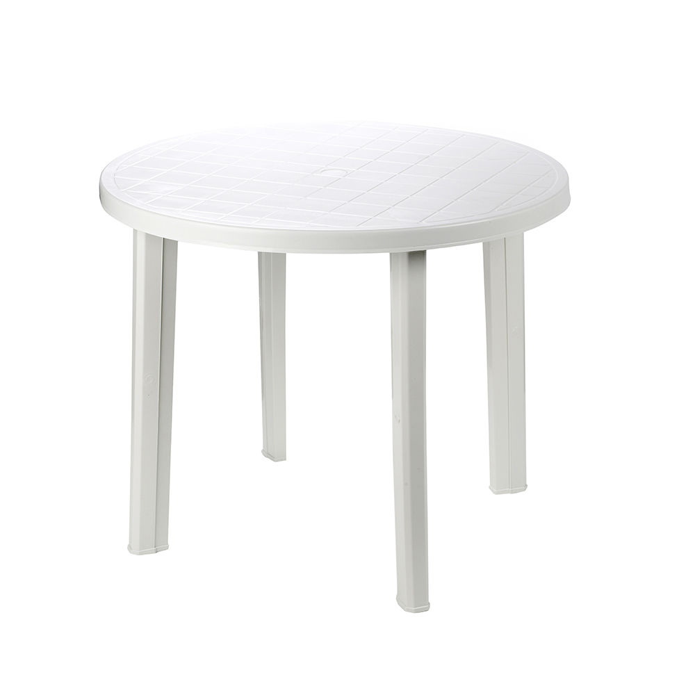 Mesa redonda color blanco 90x90x72cm