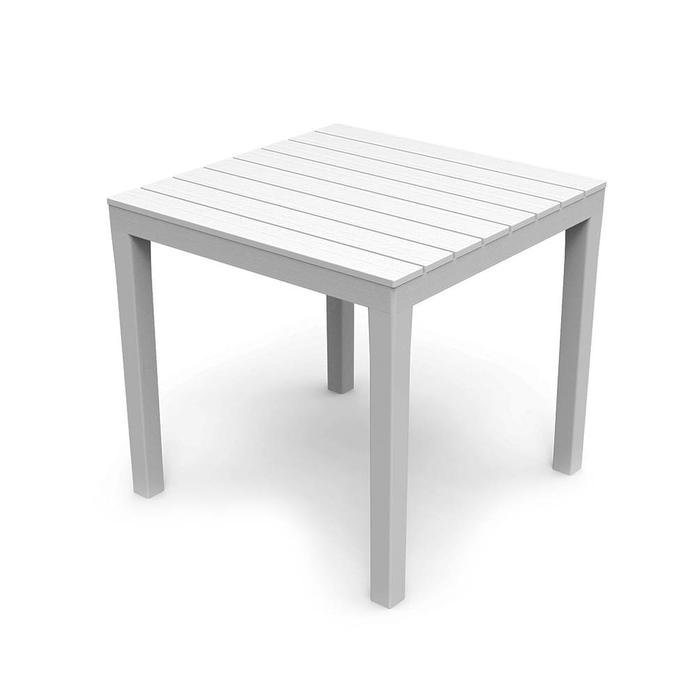 Mesa cuadrada color blanco 78x78x72cm