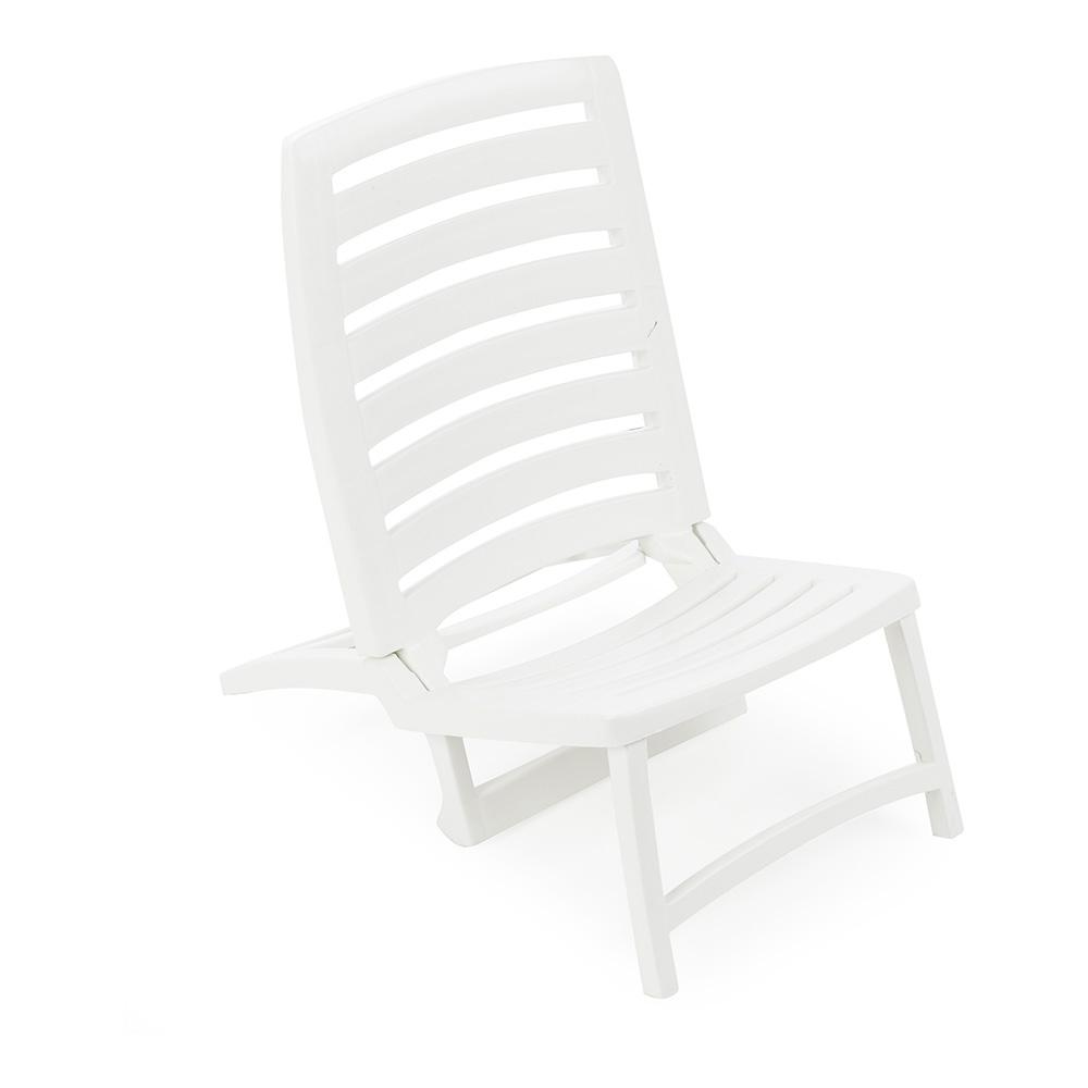 Silla playera plegable blanca ipae pro garden