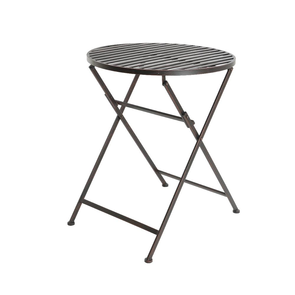 Mesa de hierro plegable de exterior modelo burdeos