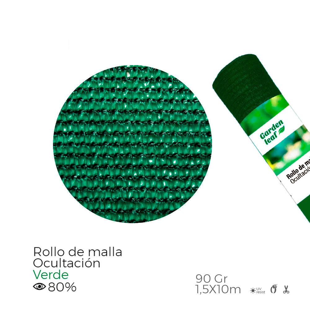 Malla Plegable Verde 80% 90G 1,50X10Mts