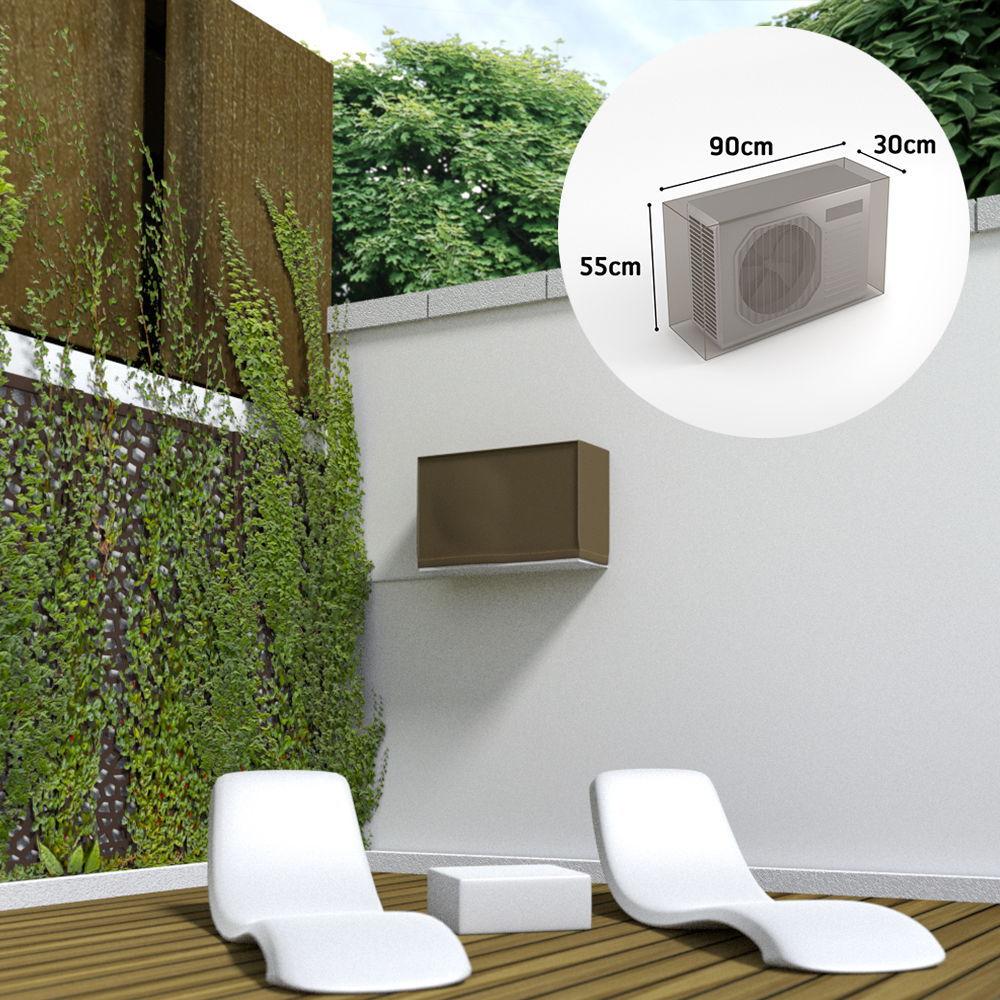 Funda sistema aire acondicionado impermeable color marron claro 90x30x55cm
