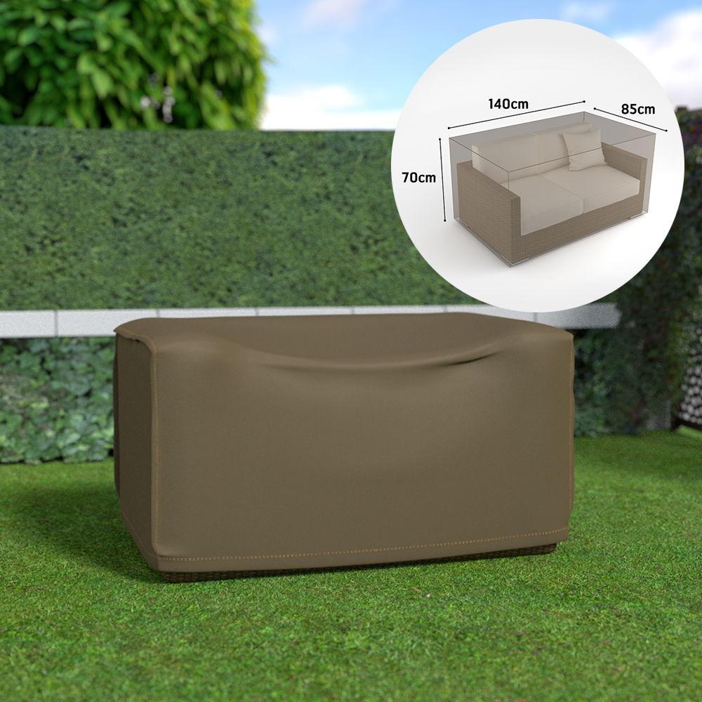 Funda sofa 2 plazas impermeable color marron claro 140x85x70cm