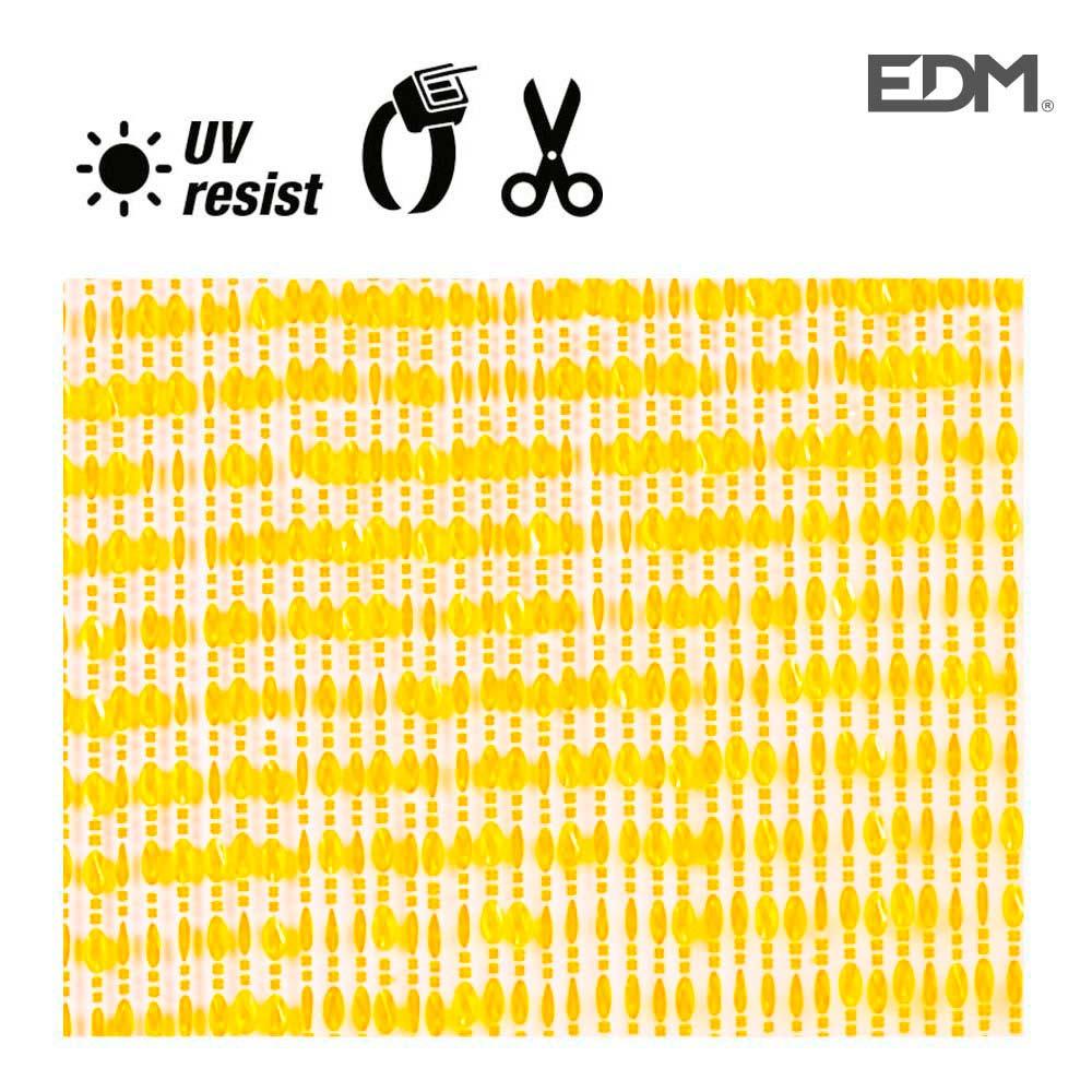 Cortina Cinta  Amarillo-Transparente Plastico 90X210Cm 32 Tiras Edm