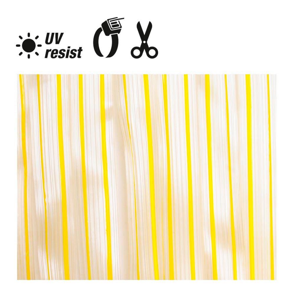 Cortina Cinta Marron Oscuro - Transparente Plastico 90X210Cm 32 Tiras Edm