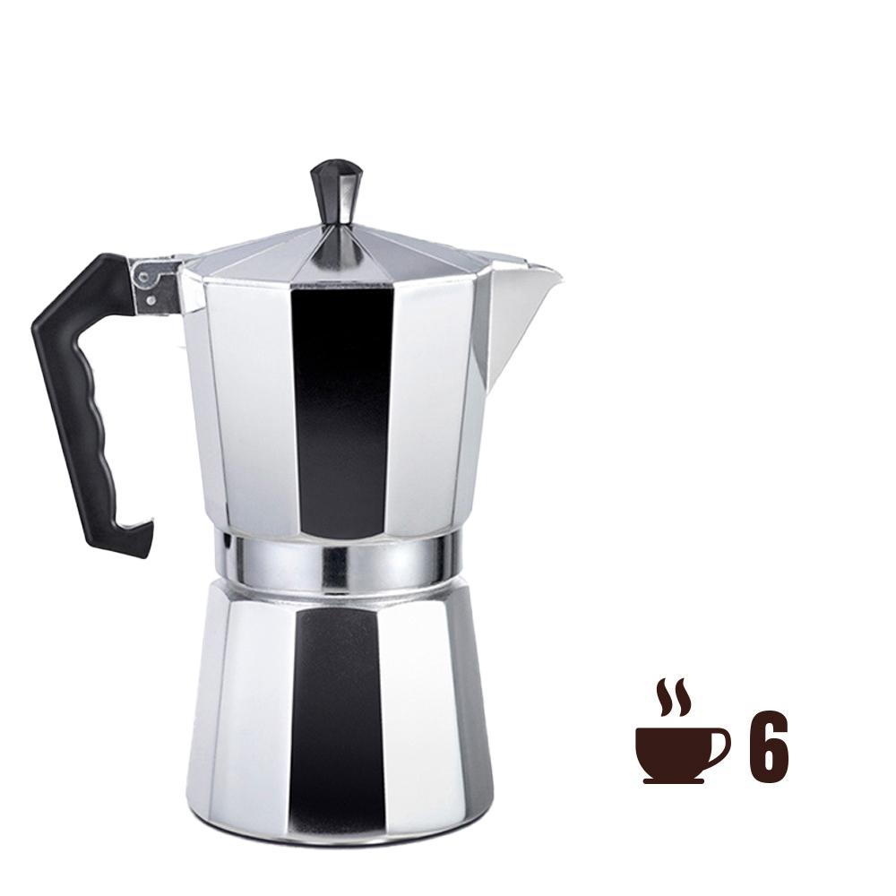 Cafetera de aluminio - 6 tazas - edm