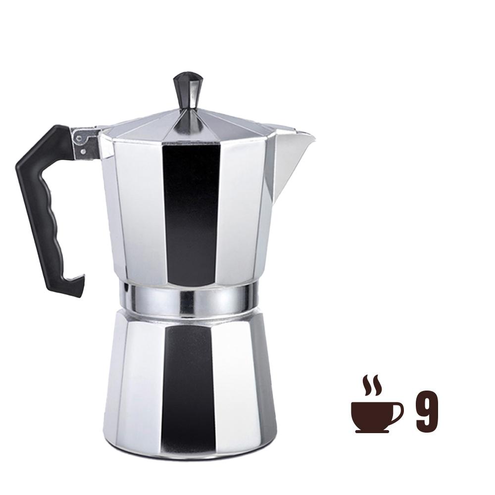 Cafetera de aluminio - 9 tazas - edm