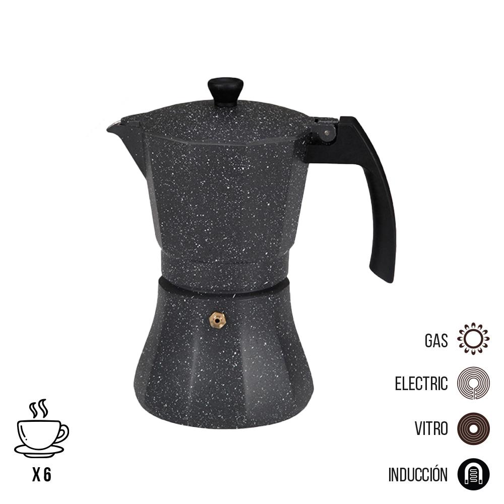 Cafetera De Aluminio - 6 Tazas Induccion - Edm