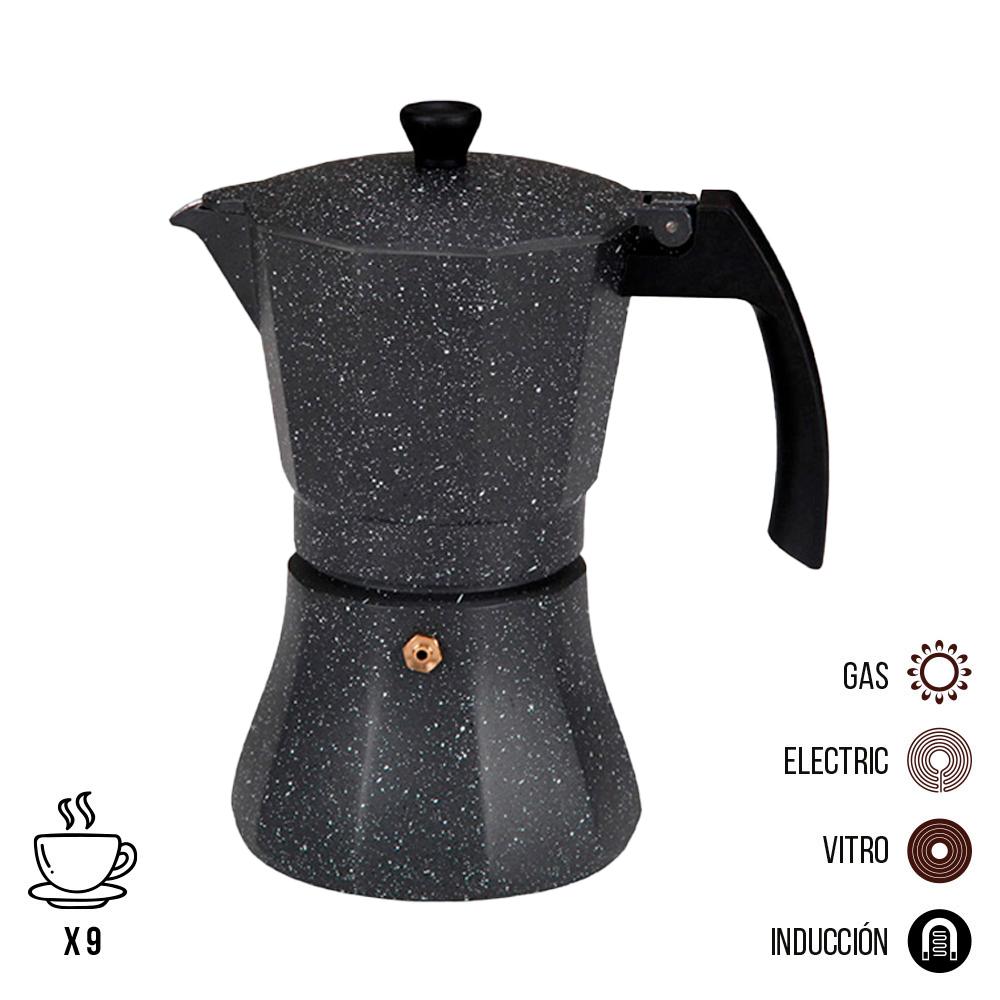 Cafetera de aluminio - 9 tazas induccion - edm