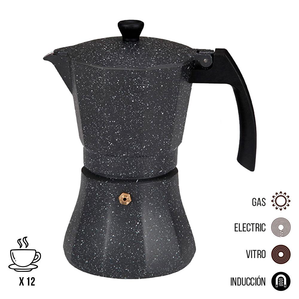 Cafetera de aluminio - 12 tazas induccion - edm