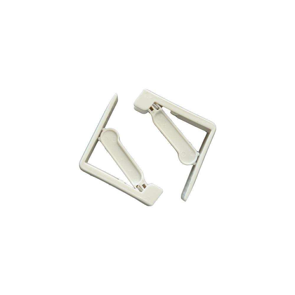 Pack 4 Sujetamanteles Ajustable Con Muelle - Color Blanco