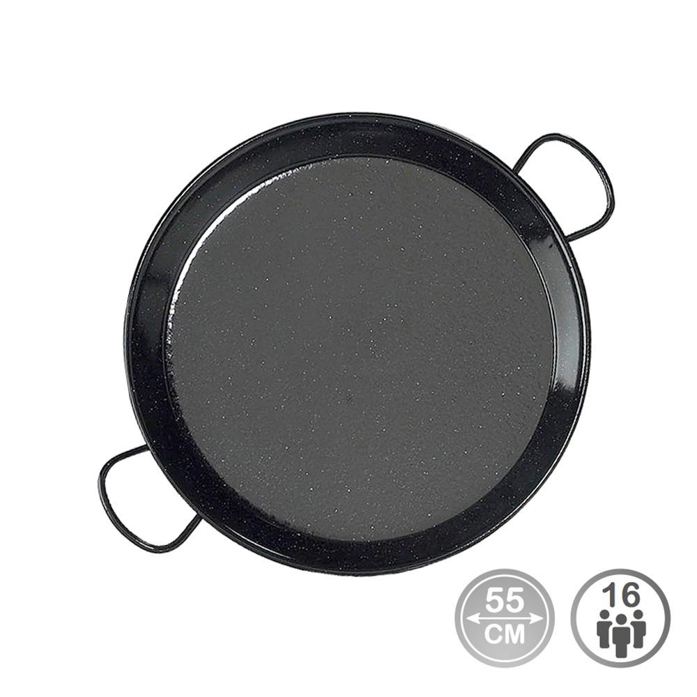 Paella tradicional - acero esmaltado ø55cm  (16 personas) - edm
