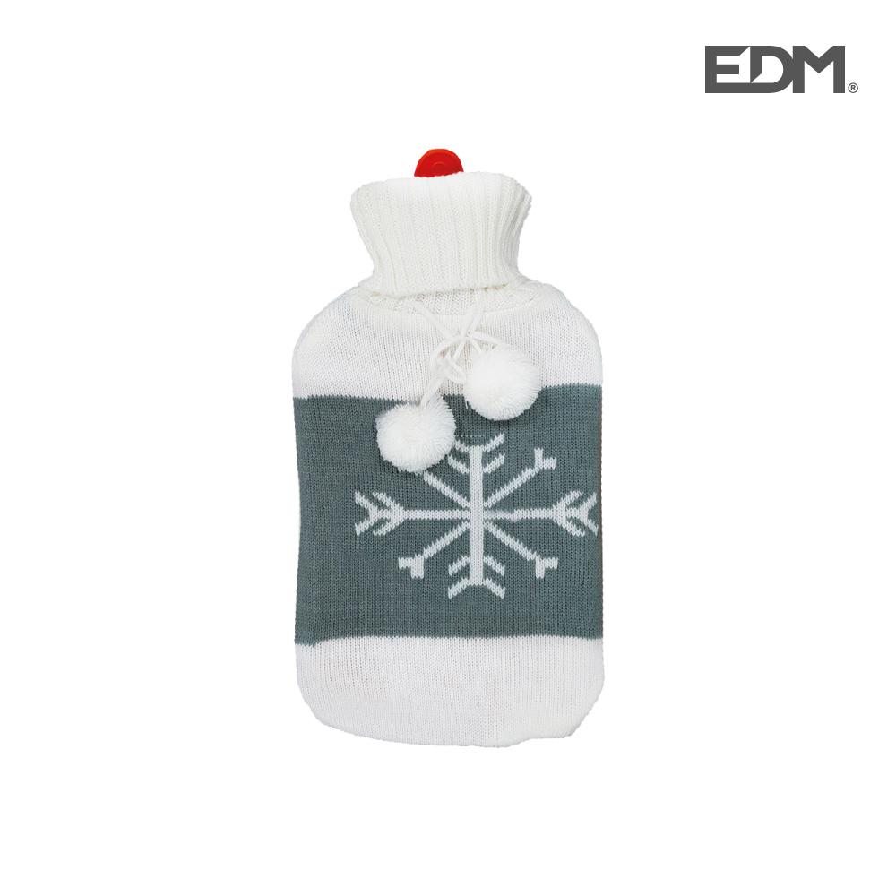 """Bolsa de agua caliente - modelo - """"copo de nieve"""" - lana - 2l - edm"""