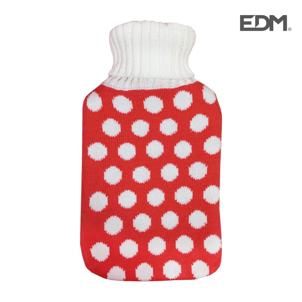 "Bolsa de agua caliente - modelo ""topos grises"" - lana - 2l - edm"