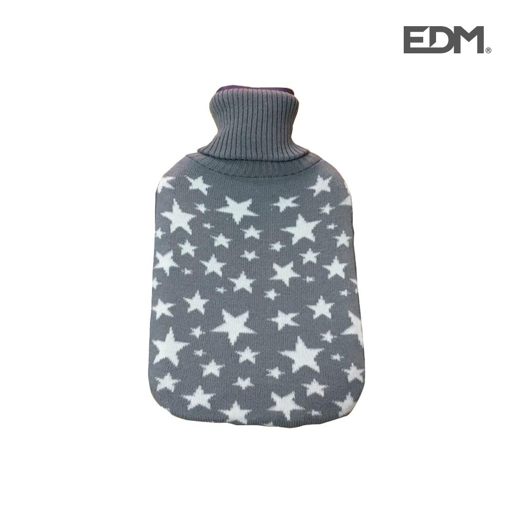 "Bolsa de agua caliente - modelo - ""estrellas"" - lana - 2l - edm"