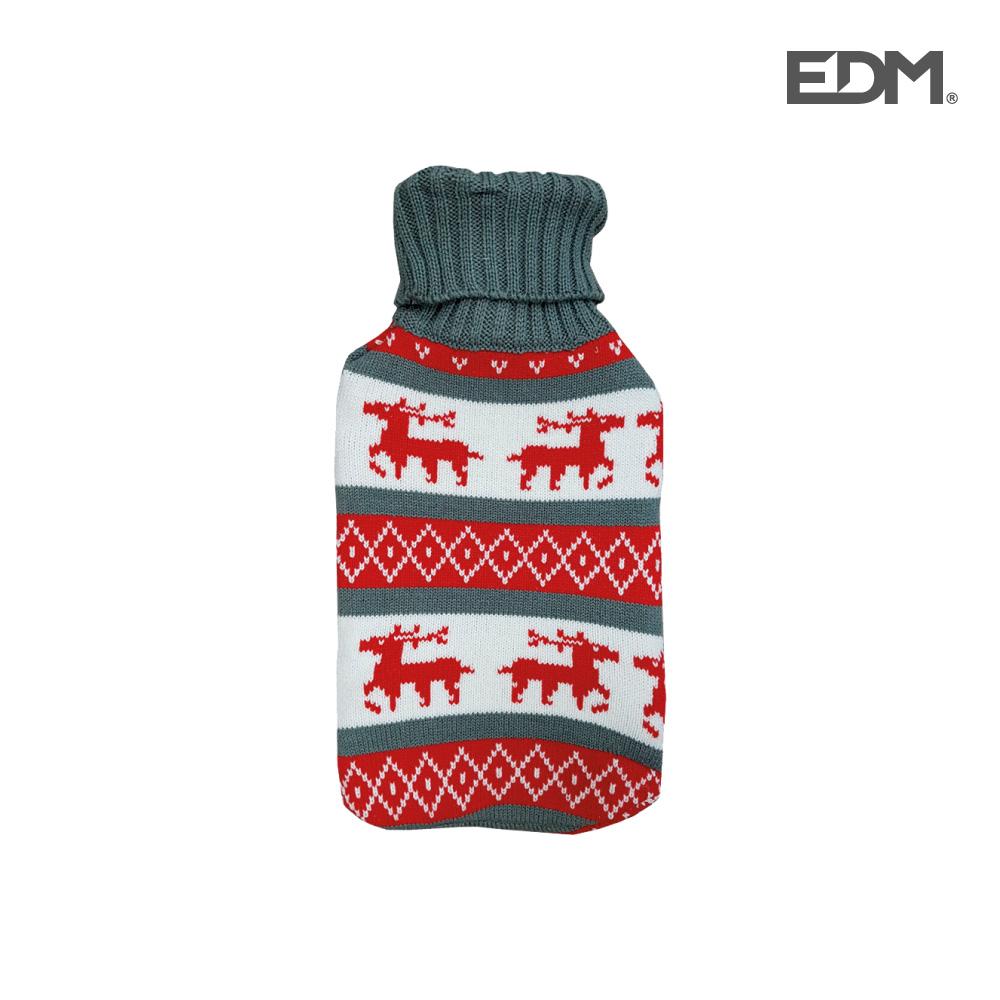"Bolsa de agua caliente - modelo - ""renos"" - lana - 2l - edm"