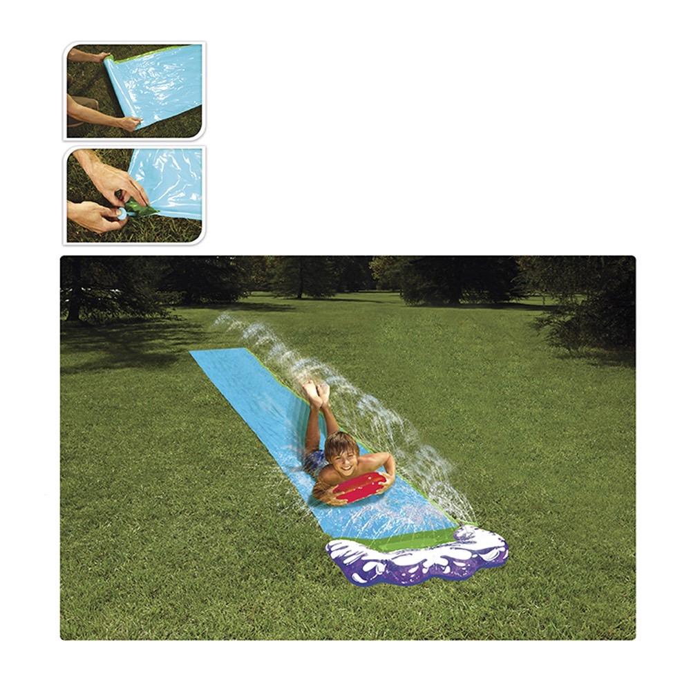 Rampa deslizante con agua