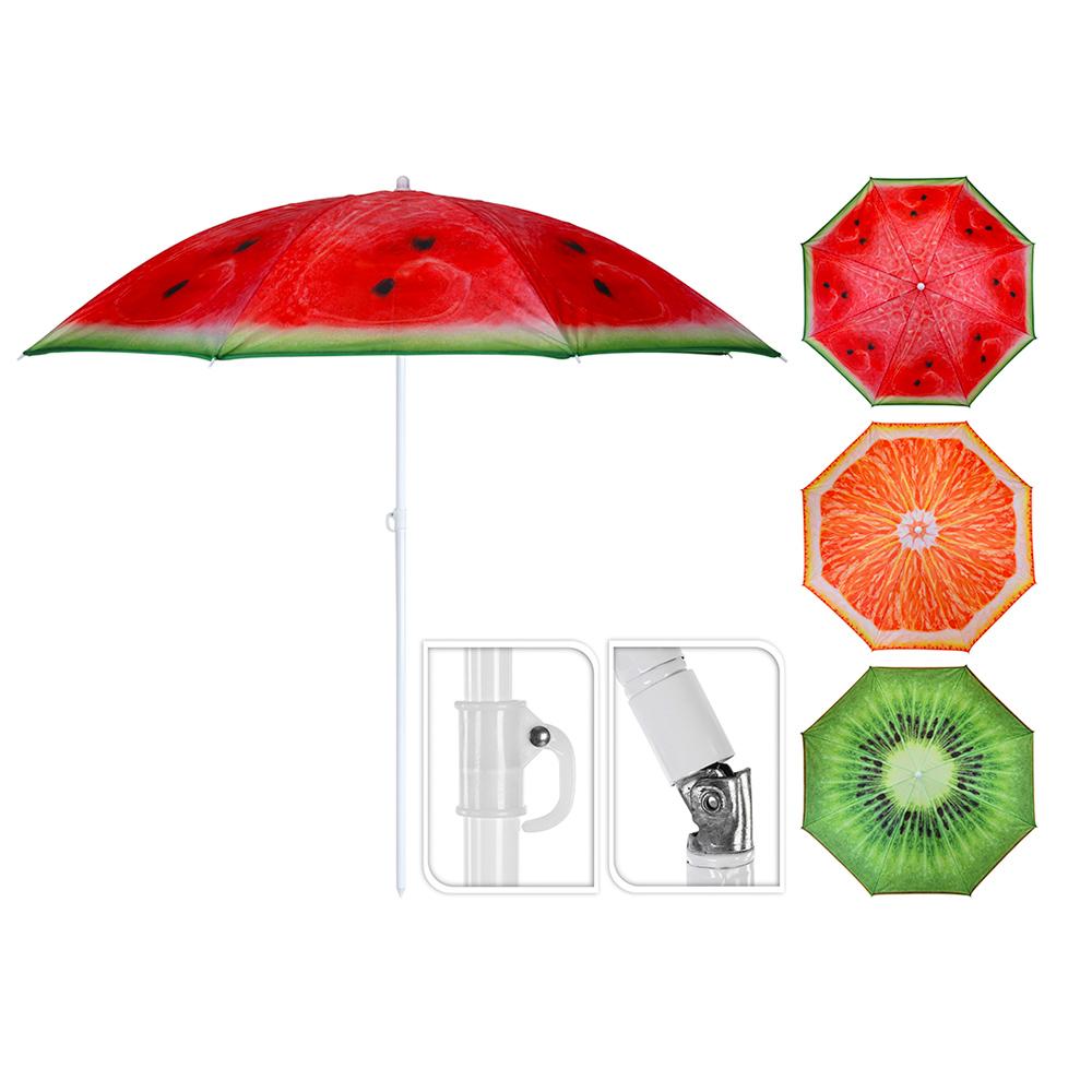 Sombrilla De Playa Ø176Cm Diseño Frutas Varios Con Funda