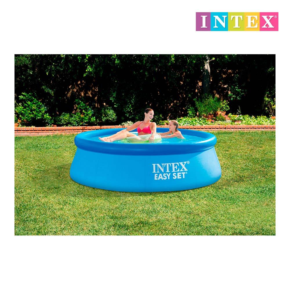 Piscina easy set 244x76 cm 2.419 litros c/depuradora 1250l/h intex 28112np