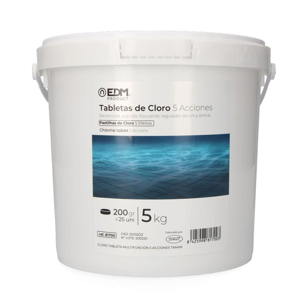 Cloro 5 acciones tableta 5 kg fusion  edm
