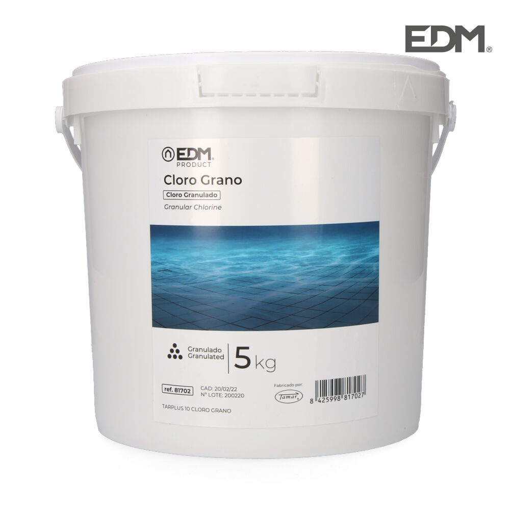 Cloro granulado 5 kg fusion edm