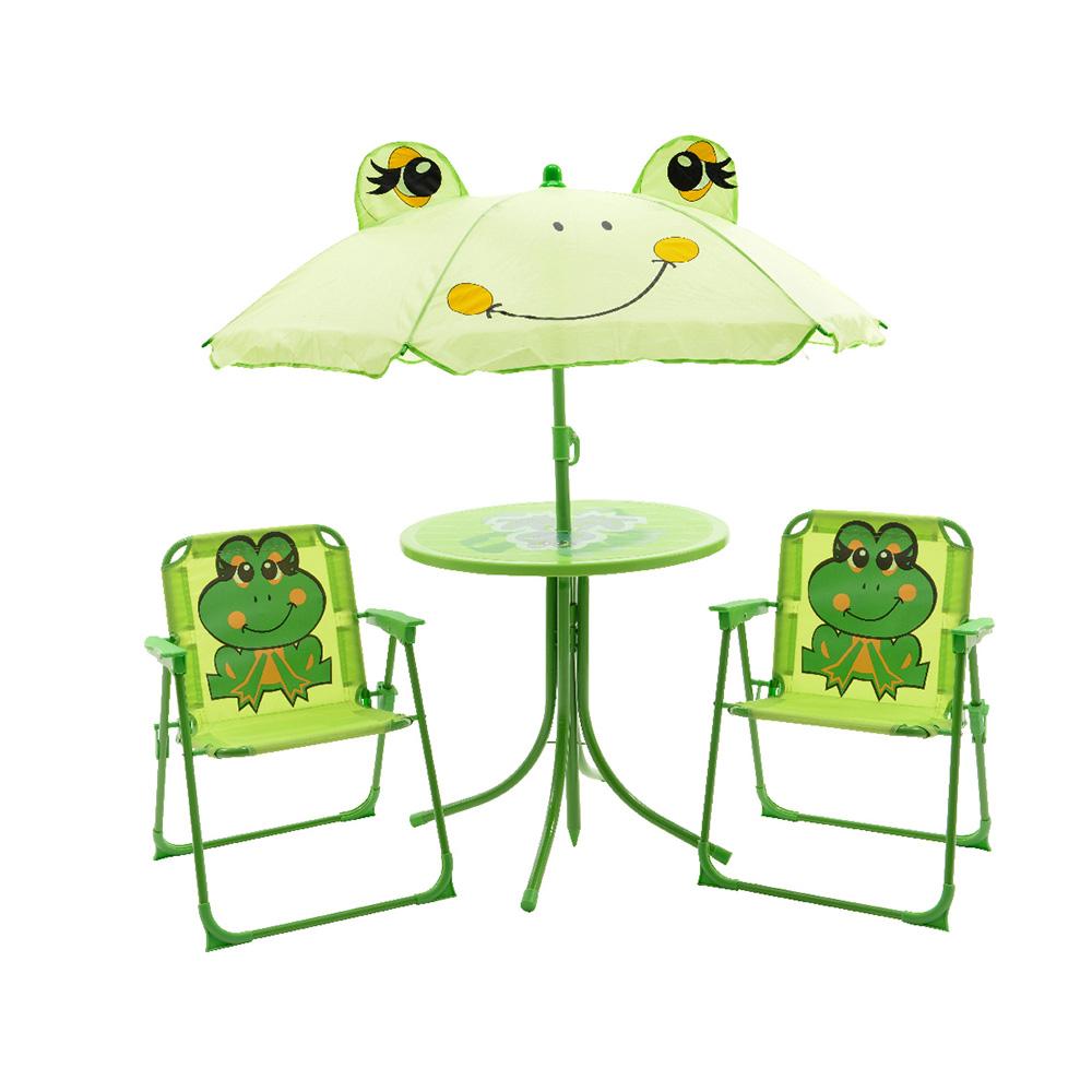 Conjunto infantil de mesa y dos sillas modelo rana