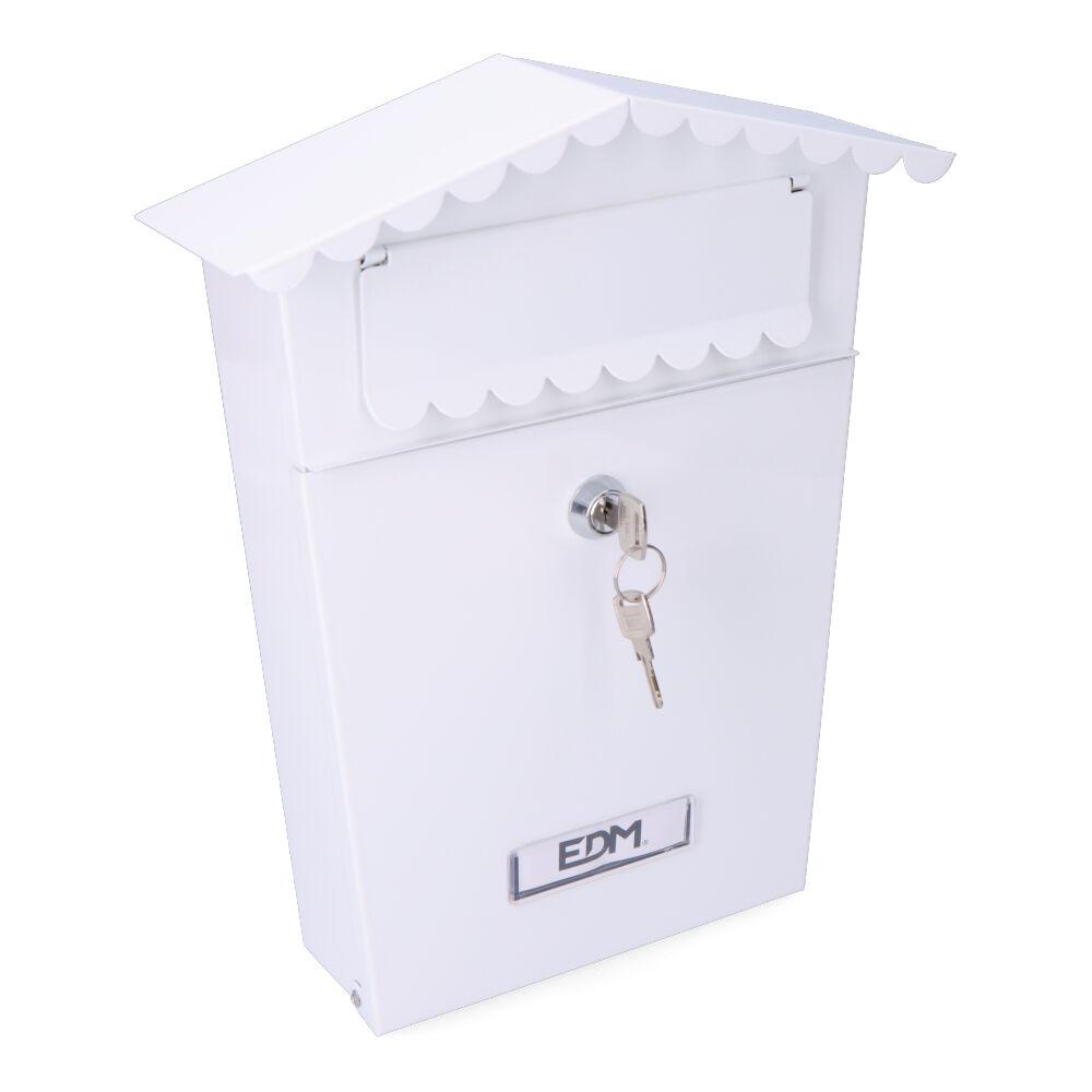 Buzon En Acero Modelo House Blanca